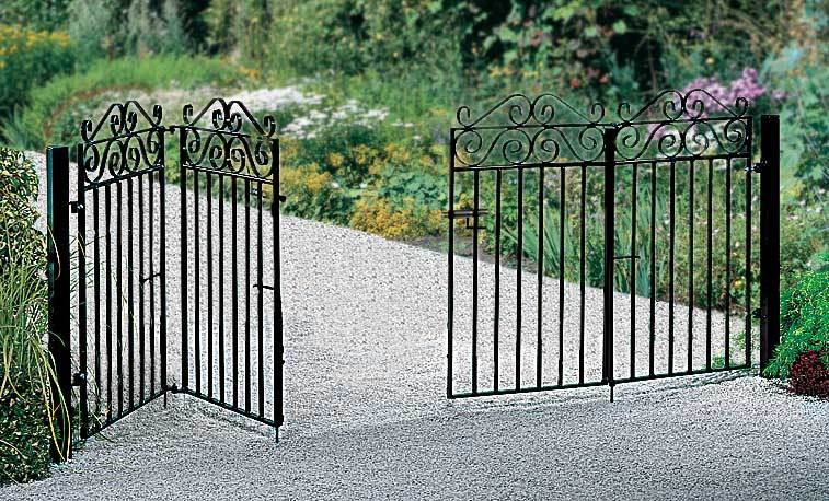 Example of Metal Driveway Gates Fitted to Posts