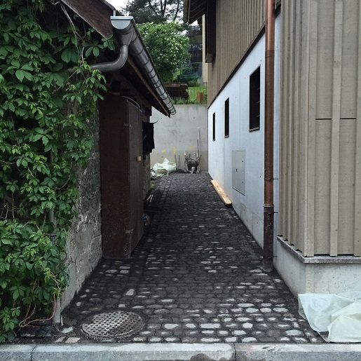 Driveway entrance to Swiss holiday chalet