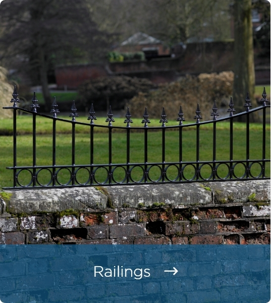 Wrought Iron Style Railings - Click Here