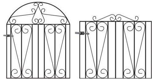 Westminster Wrought Iron Style Metal Garden Gates For Sale