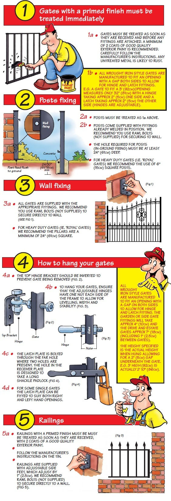 Metal Gates Direct installation guide for wrought iron style gates, fencing and railings