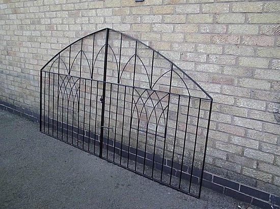 Custom built wrought iron driveway gates