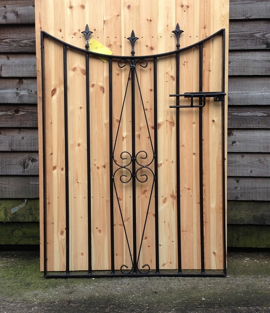Bespoke metal garden gate design