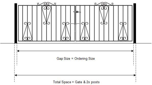 Measuring driveway gates fitted to new metal posts