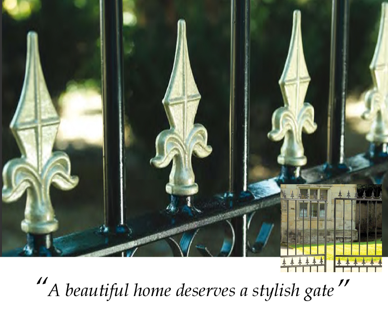 A beautiful home deserves a stylish metal gate design