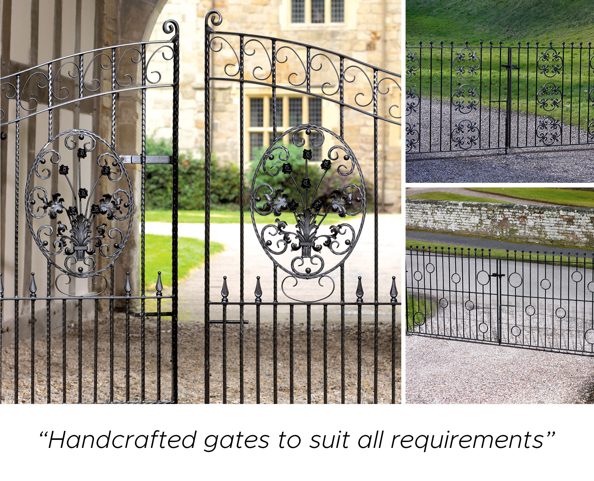 Examples of handmade metal gates for sale within our online store