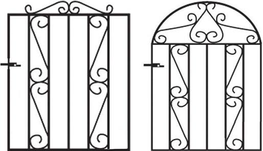 Clifton metal garden gate designs