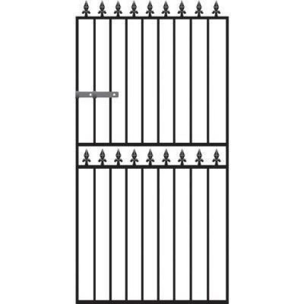 Hampton Wrought Iron Style Metal Side Gate