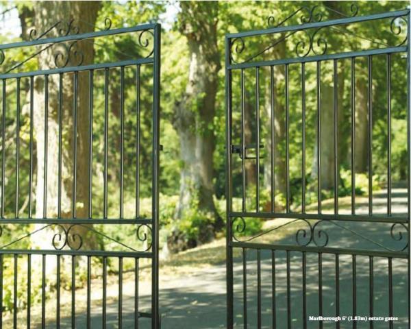 Marlborough Wrought Iron Style Metal Estate Gates