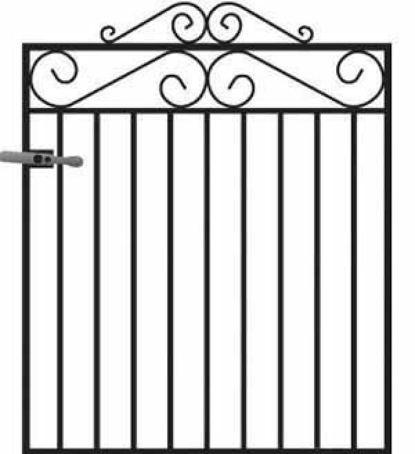 Marlborough Wrought Iron Style Metal Garden Gate - 4ft High