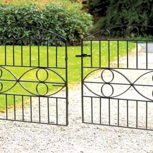 Monaco Wrought Iron Style Double Metal Driveway Gates | 3ft 6