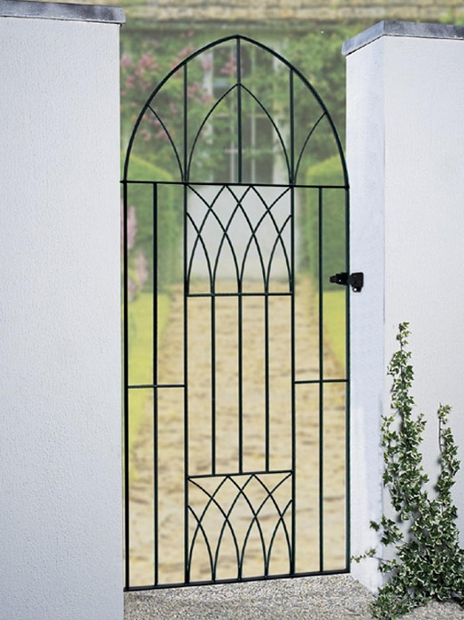 Abbey Bow Top Wrought Iron Style Metal Side Gate