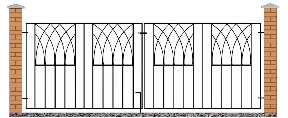 Abbey Modern Double Metal Driveway Gates