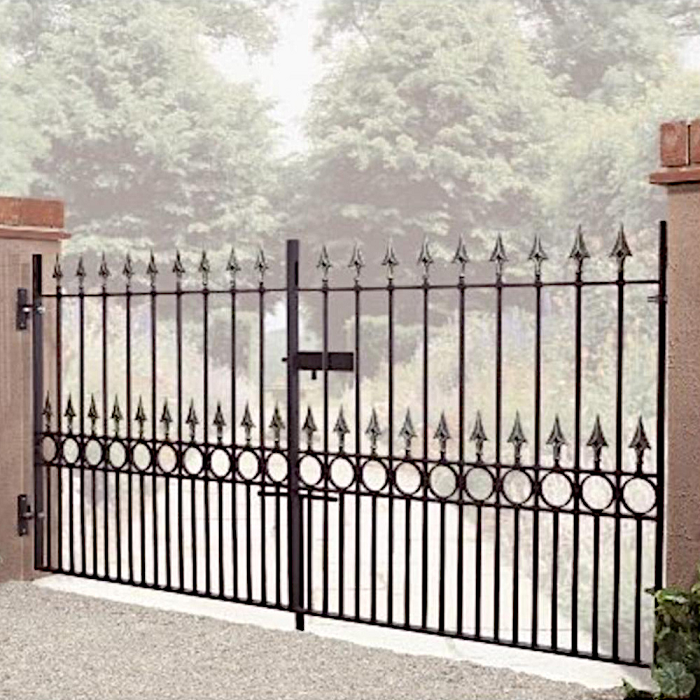 Balmoral Wrought Iron Style Double Metal Driveway Gates | 46