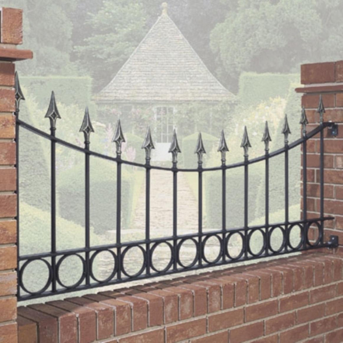 Balmoral Shaped Metal Garden Railings