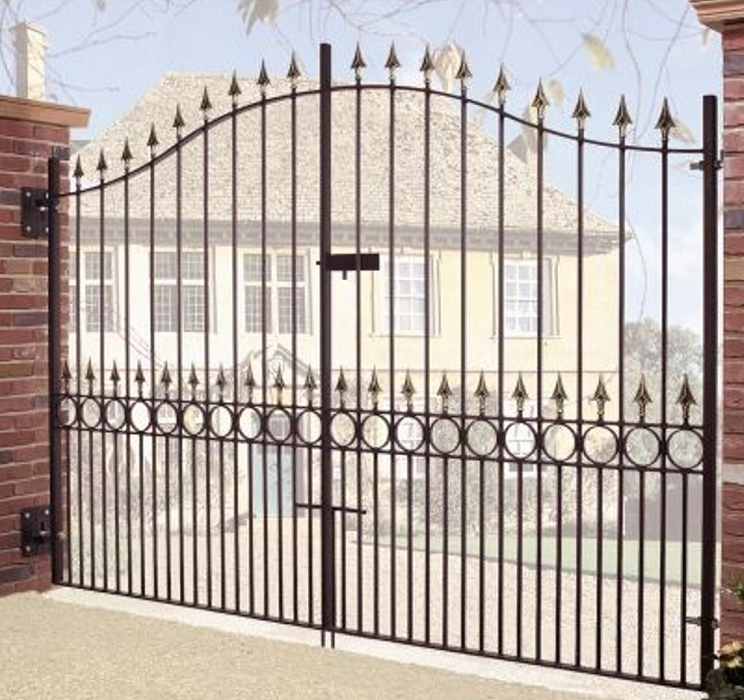 Balmoral Wrought Iron Style Metal Estate Gates