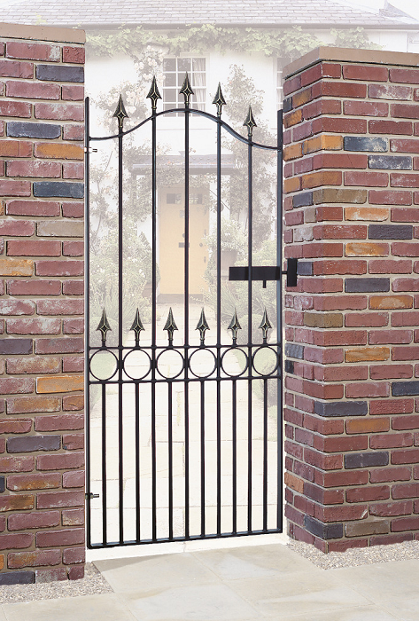 Balmoral Wrought Iron Style Metal Side Gate