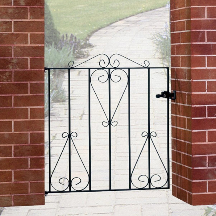 Classic Wrought Iron Style Metal Garden Gate