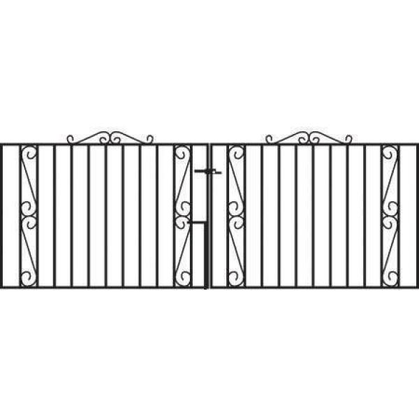 Clifton Wrought Iron Style Double Metal Driveway Gates | 3ft High
