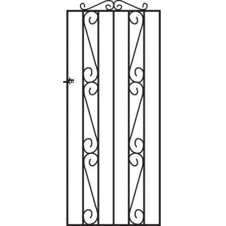 Clifton Wrought Iron Style Metal Side Gate