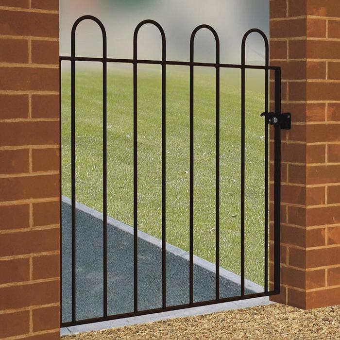Court Wrought Iron Style Metal Garden Gate