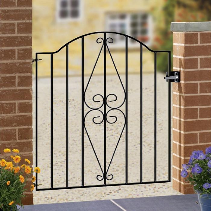 Henley Wrought Iron Style Metal Garden Gate