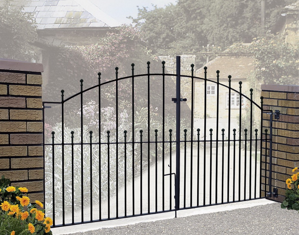 Manor Wrought Iron Style Double Metal Driveway Gates | 48