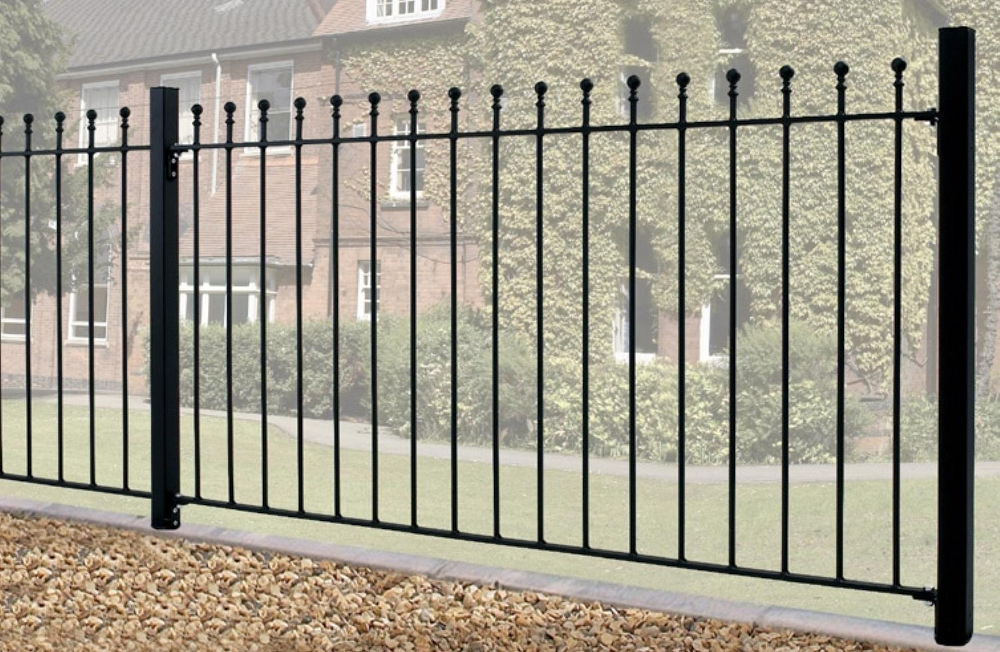 Manor Wrought Iron Style Metal Garden Fence Panels