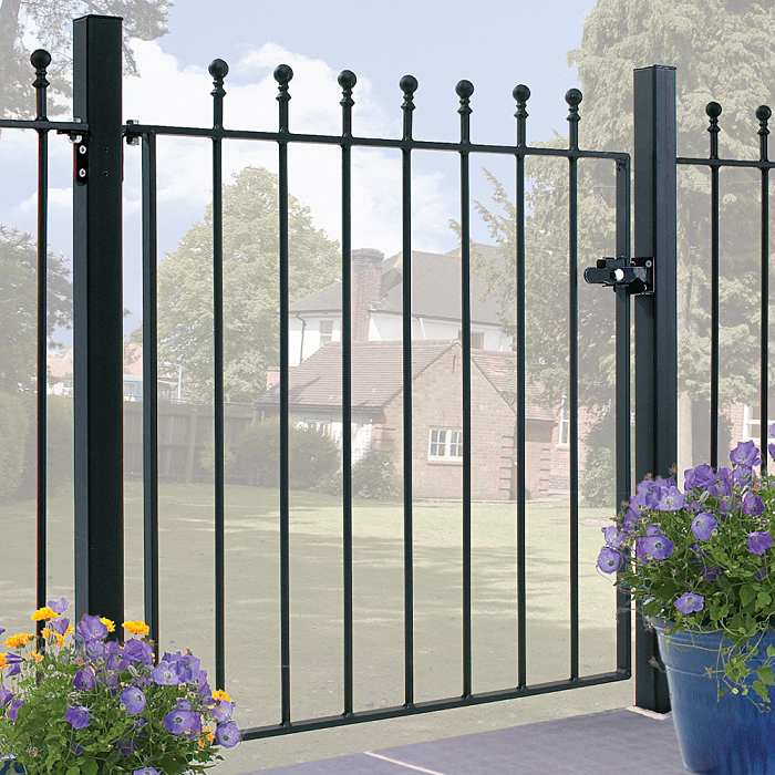 Manor Wrought Iron Style Metal Garden Gate