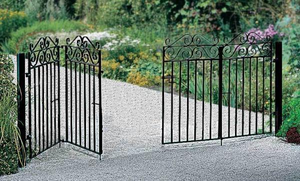 Marlborough Wrought Iron Style Bi Folding Metal Driveway Gates | 3ft High