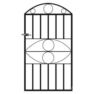 Monaco Wrought Iron Style Metal Garden Gate
