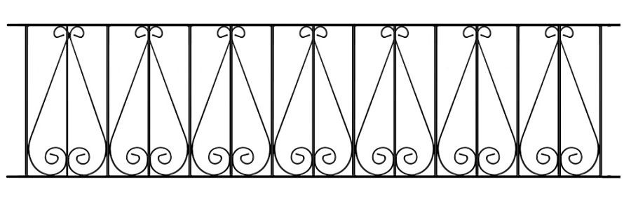 Regent Wrought Iron Style Metal Garden Railings