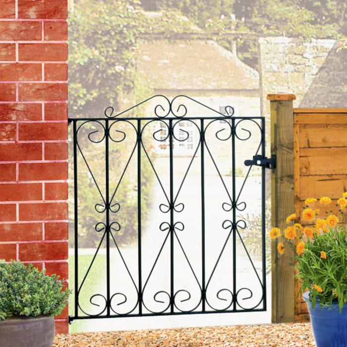 Regent Wrought Iron Style Metal Garden Gate