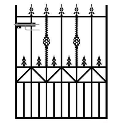 Royale Ascot Wrought Iron Style Metal Garden Gate