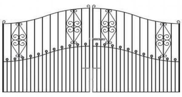 Royale Marquis Wrought Iron Style Estate Gates | 7ft High