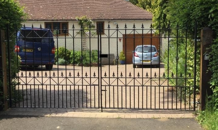 Royale Ascot Wrought Iron Style Estate Gates
