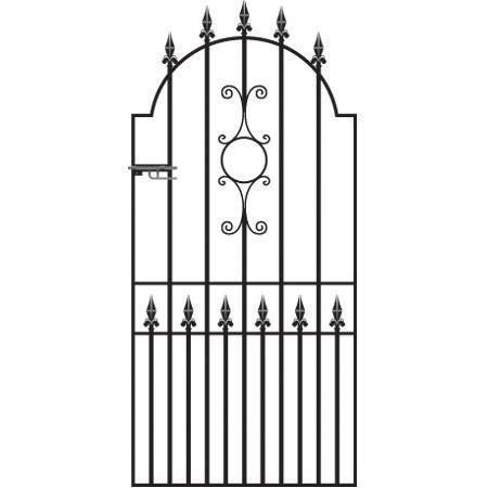 Royale Grange Wrought Iron Style Metal Side Gate