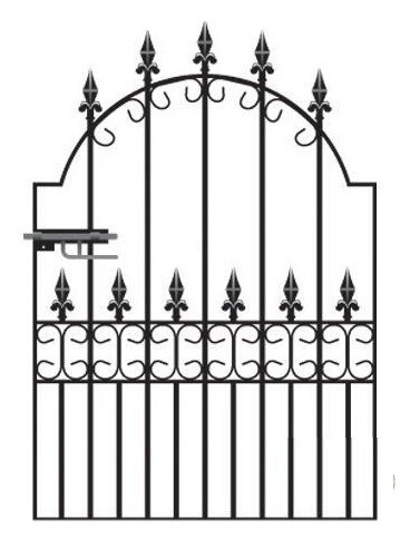 Royale Premier Wrought Iron Style Garden Gate