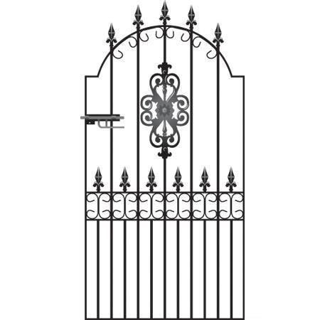 Royale Premier Wrought Iron Style Metal Side Gate