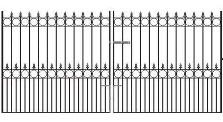 Royale Talisman Wrought Iron Style Double Metal Driveway Gates | 4ft High