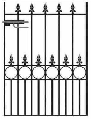 Royale Talisman Wrought Iron Style Metal Garden Gate