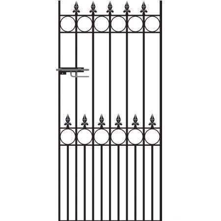 Royale Talisman Wrought Iron Style Metal Side Gate