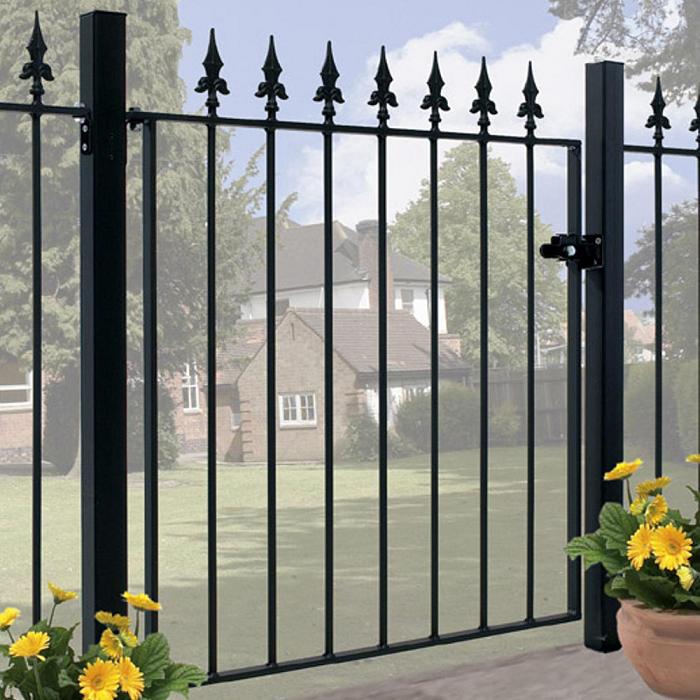 Saxon Wrought Iron Style Metal Garden Gate