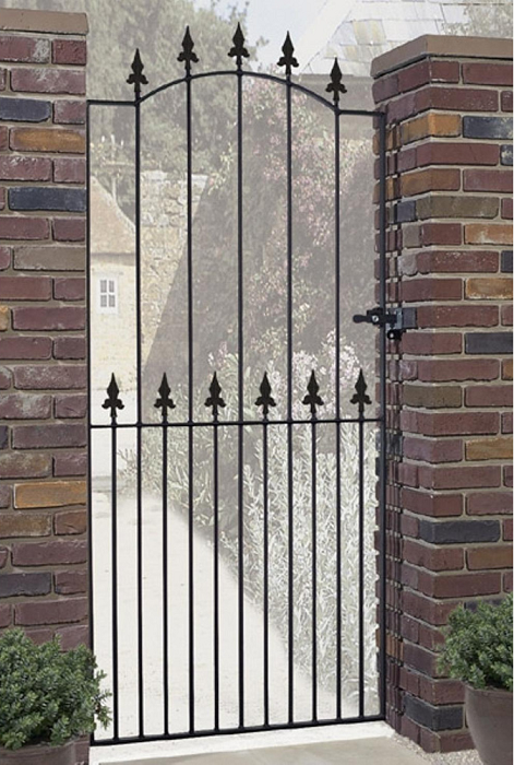 Saxon Wrought Iron Style Metal Side Gate