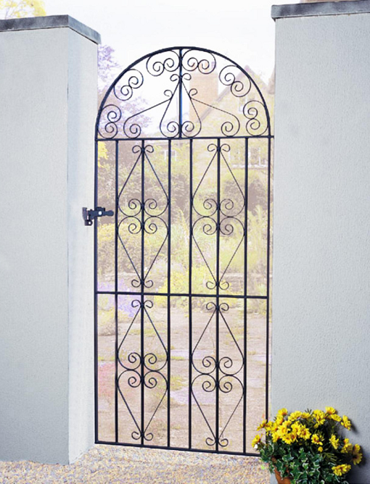 Stirling Bow Top Wrought Iron Style Metal Side Gate