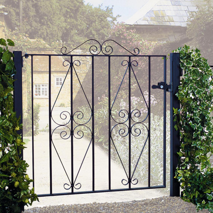 Stirling Wrought Iron Style Metal Garden Gate