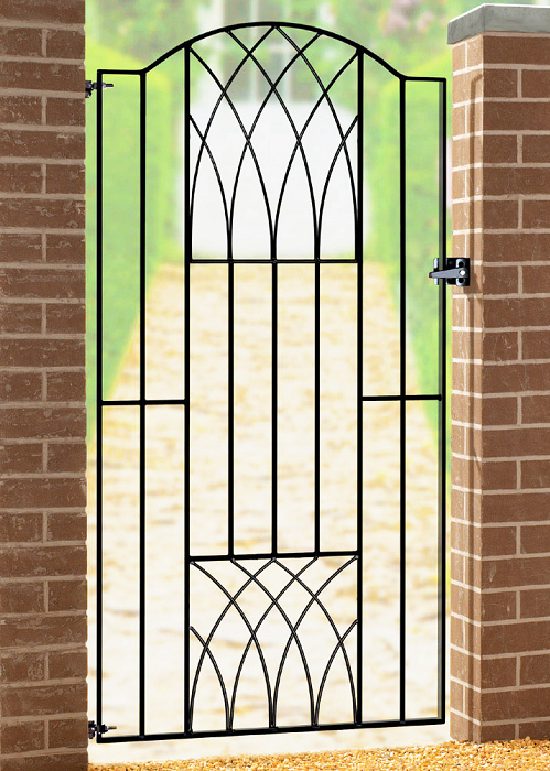Verona Wrought Iron Style Metal Side Gate