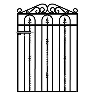 Windsor Wrought Iron Style Metal Garden Gate
